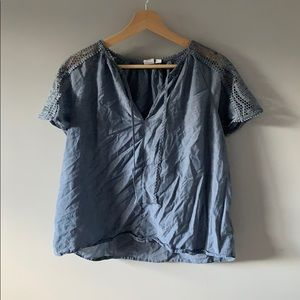 GAP Blouse with embroidered sleeves